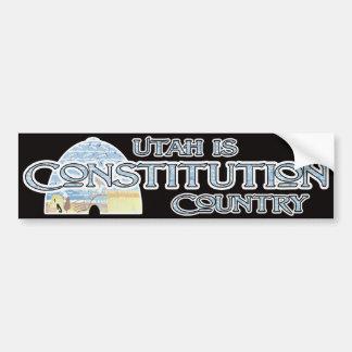 Utah es país de la constitución pegatina para auto