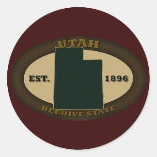 Utah Est. 1896 Classic Round Sticker