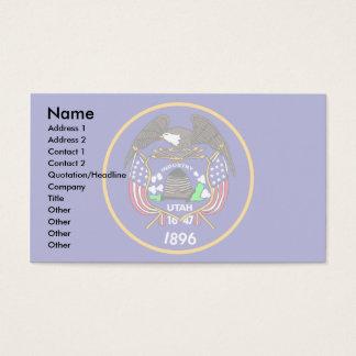 Utah Flag Business Card