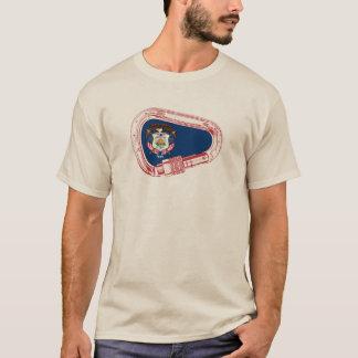 Utah Flag Climbing Carabiner T-Shirt