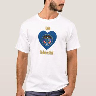 Utah Flag Heart T-Shirt