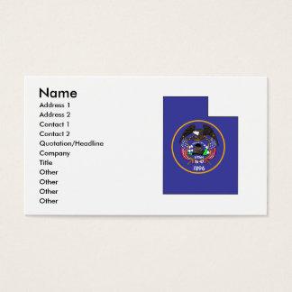 Utah Flag Map Business Card