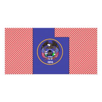 Utah Flag Map Photo Card Template