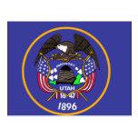 Utah Flag Map Post Card