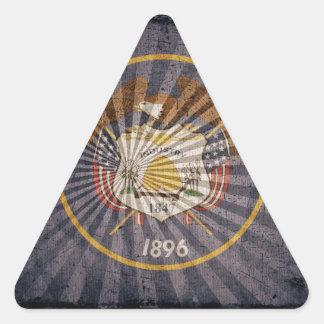 Utah Flag Sun Burst Triangle Sticker