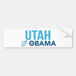 Utah For Barack Obama Biden Bumper Sticker