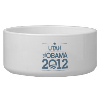 UTAH FOR OBAMA 2012.png Dog Bowls