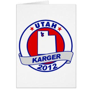 Utah Fred Karger Card
