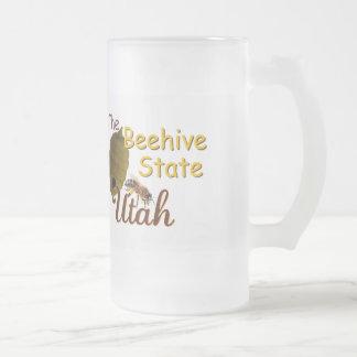 UTAH FROSTED GLASS BEER MUG