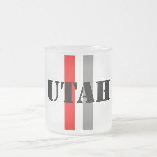 Utah Frosted Glass Coffee Mug