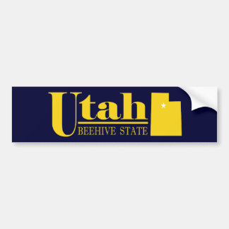 Utah Gold Bumper Sticker