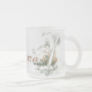 Utah Green Tree Mug Glass