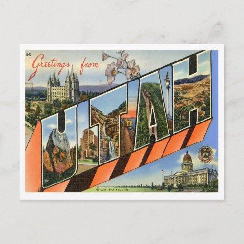 Utah Greetings From US States Postcard