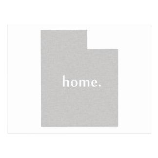 Utah home silhouette state map postcard