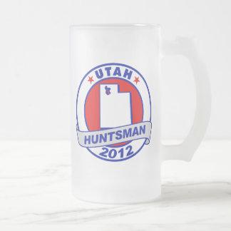 Utah Jon Huntsman 16 Oz Frosted Glass Beer Mug