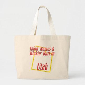 Utah - Kickin' Butt Jumbo Tote Bag