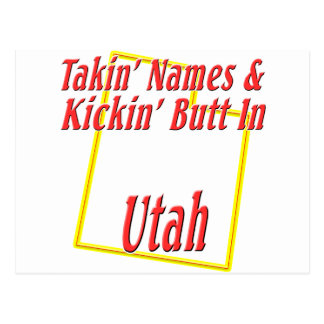 Utah - Kickin' Butt Postcard