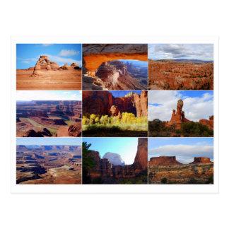 Utah Landmarks Collage Postcard