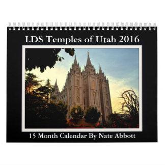 Utah LDS Temples 2016 15 Month Calendar
