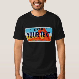 Utah license plate tee shirt