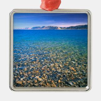 UTAH. LOS E.E.U.U. El agua clara del lago bear Adorno Cuadrado Plateado