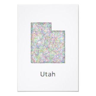 Utah map card