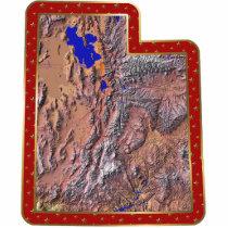 Utah Map Christmas Ornament Cut Out