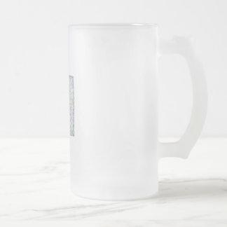 Utah map frosted glass beer mug