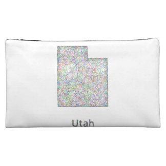 Utah map makeup bag