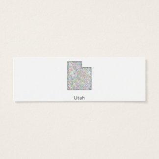 Utah map mini business card