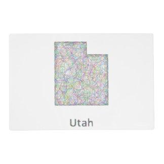 Utah map placemat
