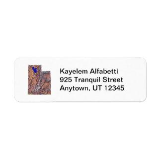 Utah Map Return Address Label
