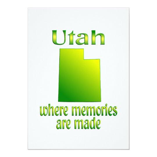 Utah Memories Card