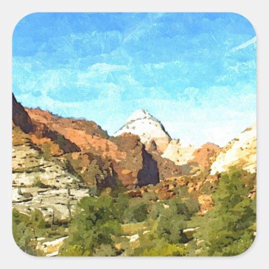 Utah meridional Vista Pegatina Cuadrada