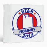 Utah Mitt Romney 3 Ring Binder