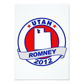 Utah Mitt Romney 5x7 Paper Invitation Card