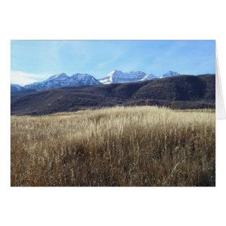 Utah Mountain Wedding Invitation Greeting Card
