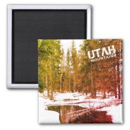 Utah Mountain Winter Landscape Magnet