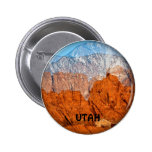 Utah Mountains 2 Inch Round Button