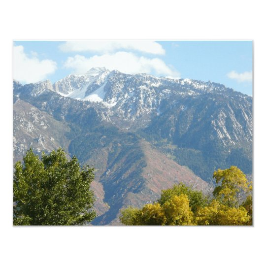 utah mountains card