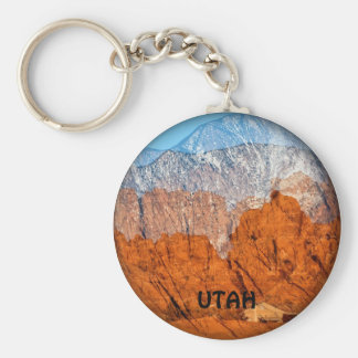 Utah Mountains Keychain