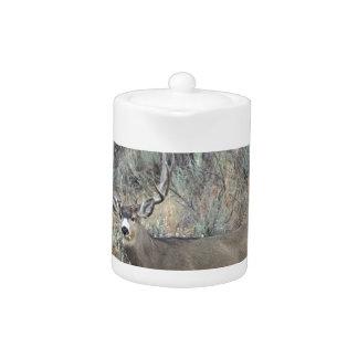 Utah mule deer buck teapot
