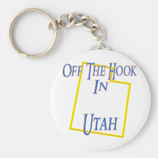 Utah - Off The Hook Basic Round Button Keychain