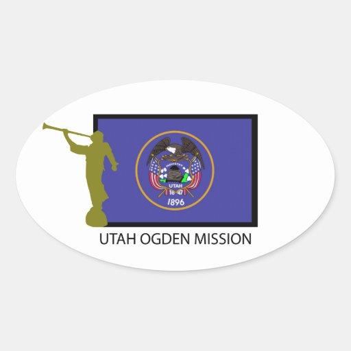 Utah Ogden Mission Lds Ctr Oval Sticker Zazzle