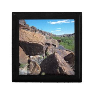 Utah oscila la serie #2: Cantos rodados Caja De Regalo Cuadrada Pequeña