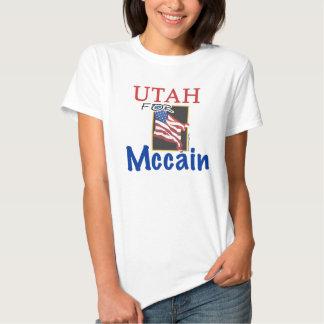 Utah para la camiseta de John McCain Playeras