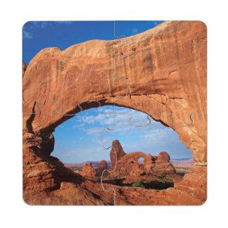 Utah, parque nacional de los arcos, arco 2 de la posavasos de puzzle