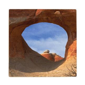 Utah, parque nacional de los arcos, arco del túnel posavasos de arce