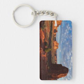 Utah, parque nacional de los arcos, formaciones de llavero rectangular acrílico a doble cara