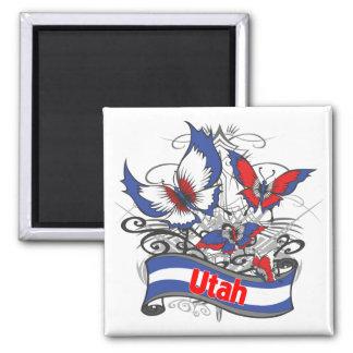 Utah Patriotism Butterfly Magnet